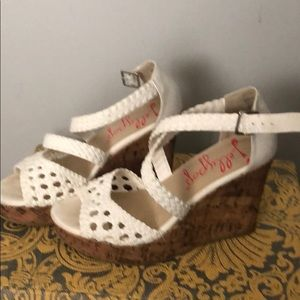 Jelly pop white wedges